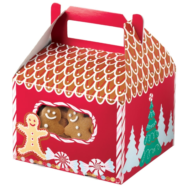 Gingerbread Cottage Tent Cookie Boxes
