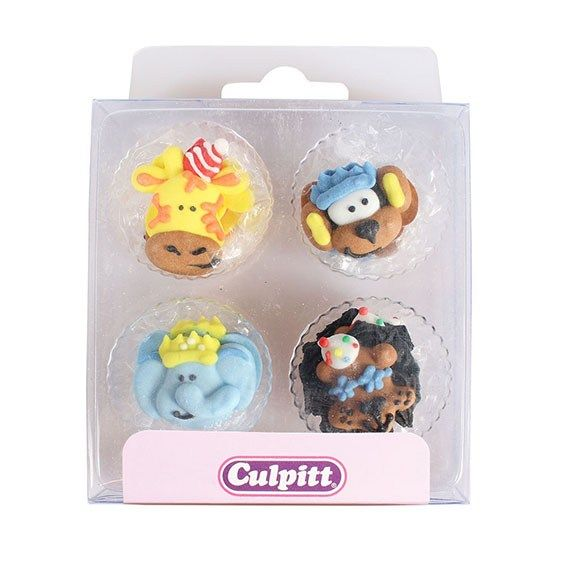 Cake Decorating Sugar Animals : Party Animals Sugar Pipings