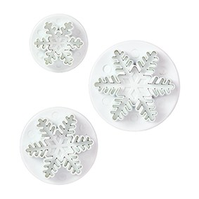 Snowflake Plunger Cutter - Set of 3