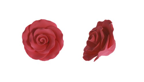 Cerise Sugar Roses 30mm