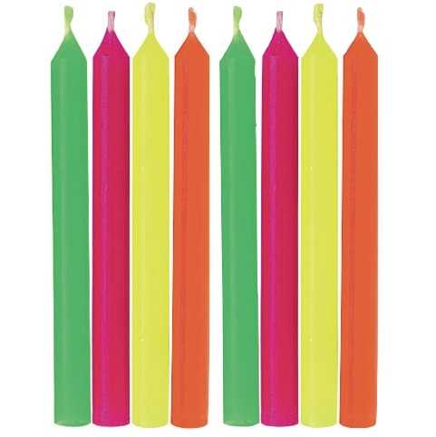 Hot Colours Round Candles