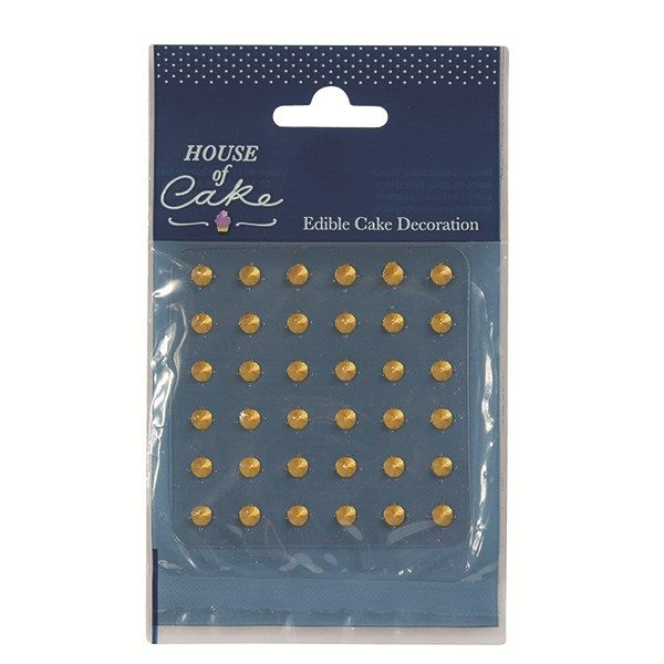 Jelly Studs Gold - Pack of 36