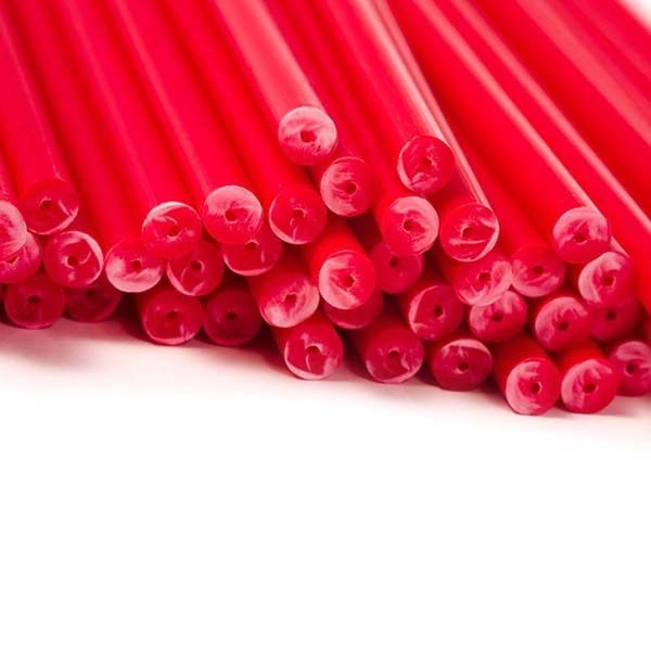 Red Cake Pop / Lollipop Sticks 15cm - Pack of 20